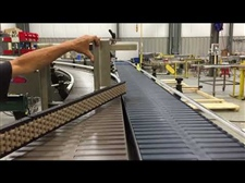 Product Settling (Vibrating) Conveyor with Divert