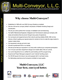 Multi-Conveyor overview brochure