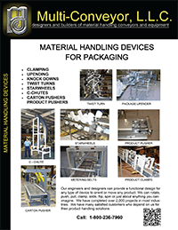 Packaging conveyor devices