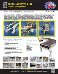 Mat top style modular plastic belt conveyors by Multi-Conveyor