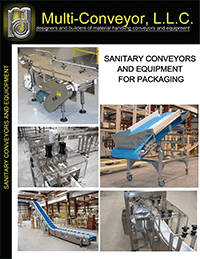Sanitary food grade conveyors