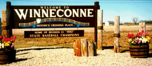 Welcome to Winneconne, Wisconsin sign