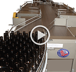Accumulation and case conveyors for craft breweries