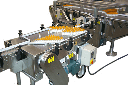 inline table accumulating conveyor