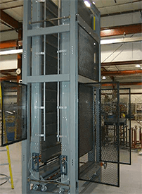 Vertical lift, elevator, case elevation, case elevating conveyor, case conveyor