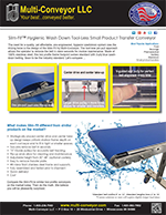 New Slim-Fit Hygienic Small Transfer Conveyor